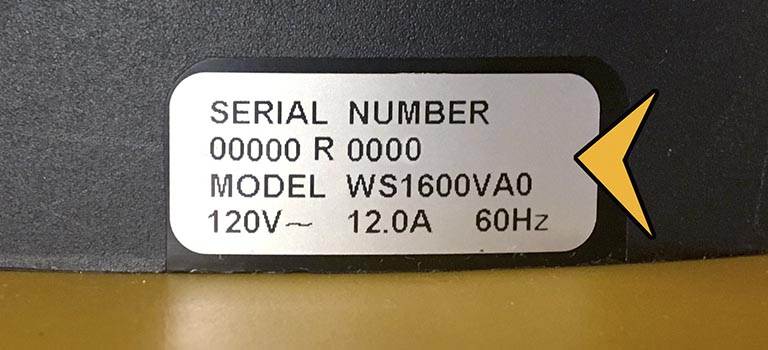 Vacuum Model Number | Workshop US